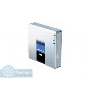 Cisco Linksys PAP2T, 1 порт 10/100 Мбит/сек, 2 порта FXS RJ-11